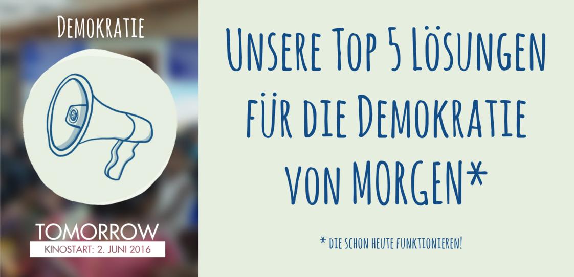 Die Demokratie von Morgen?